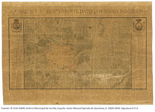 Plano de Sevilla del Infante Don Carlos