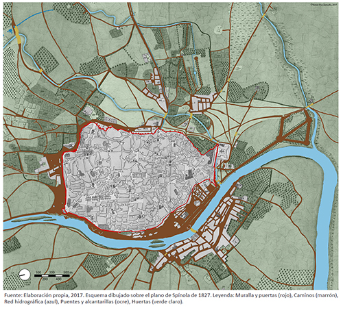 Elementos estructurantes de la periferia urbana de Sevilla a principios del siglo XIX