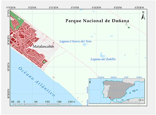 Localización de la laguna Charco del Toro