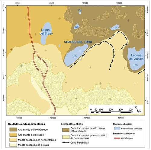 Laguna Charco del Toro en el contexto morfogenético del manto eólico de El Abalario-Doñana