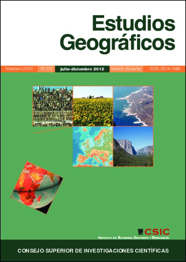 Ver Vol. 73 Núm. 273 (2012)
